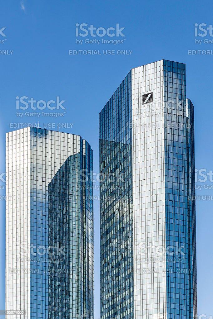Deutsche Bank, Greentowers in Frankfurt stock photo