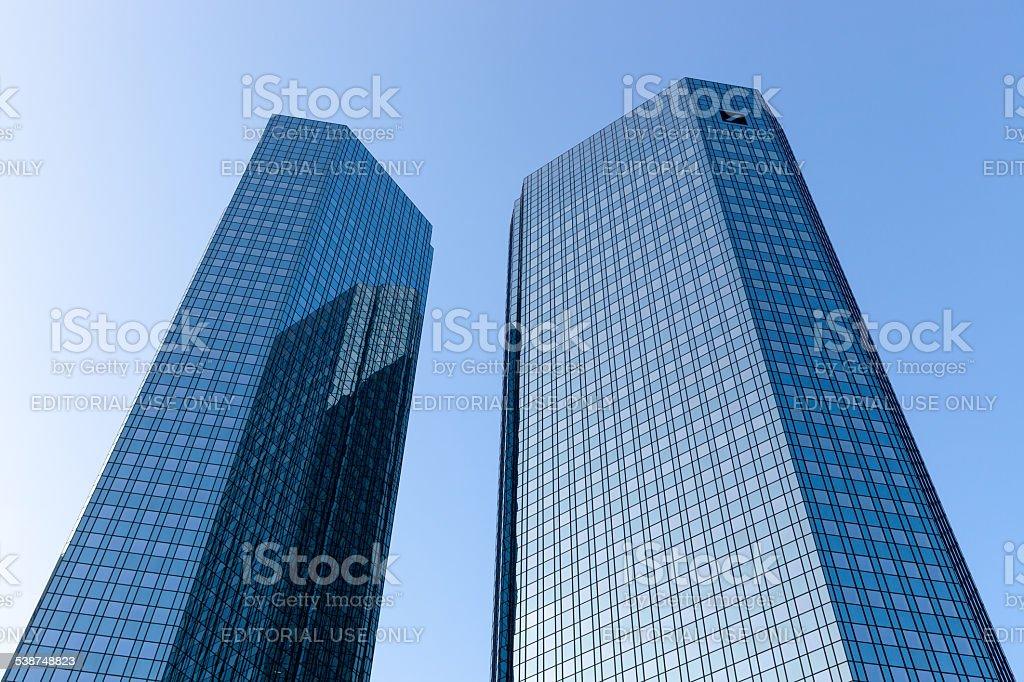 Deutsche Bank Headquarters stock photo