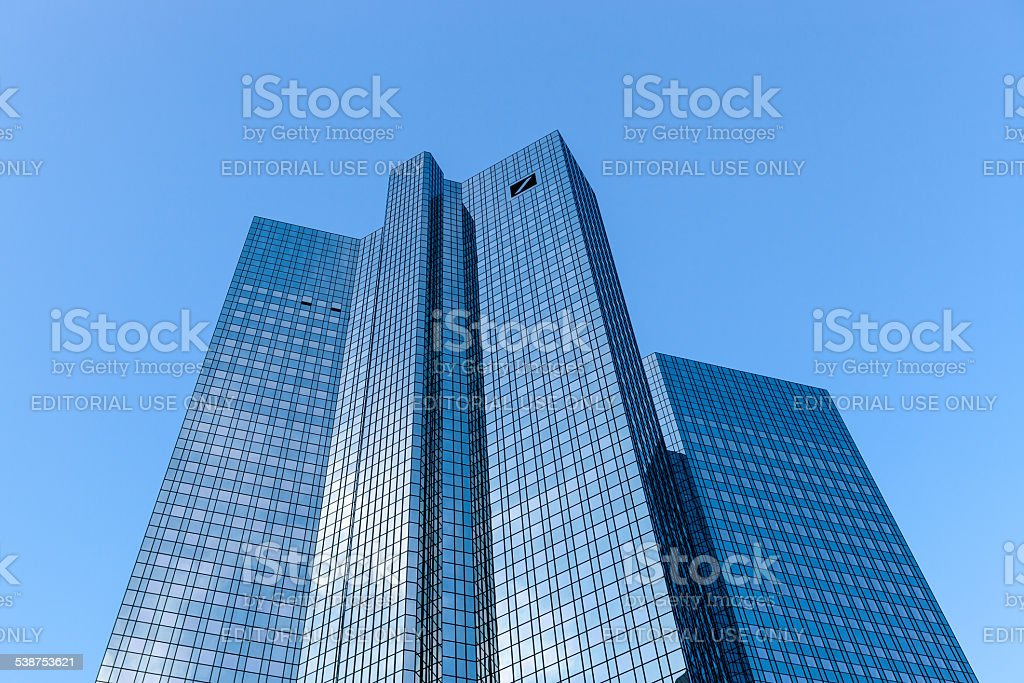 Deutsche Bank Headquarters stock photo
