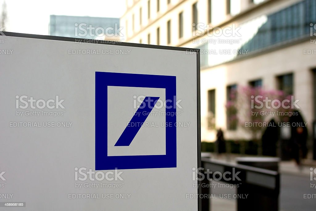 Deutsche Bank Logo stock photo