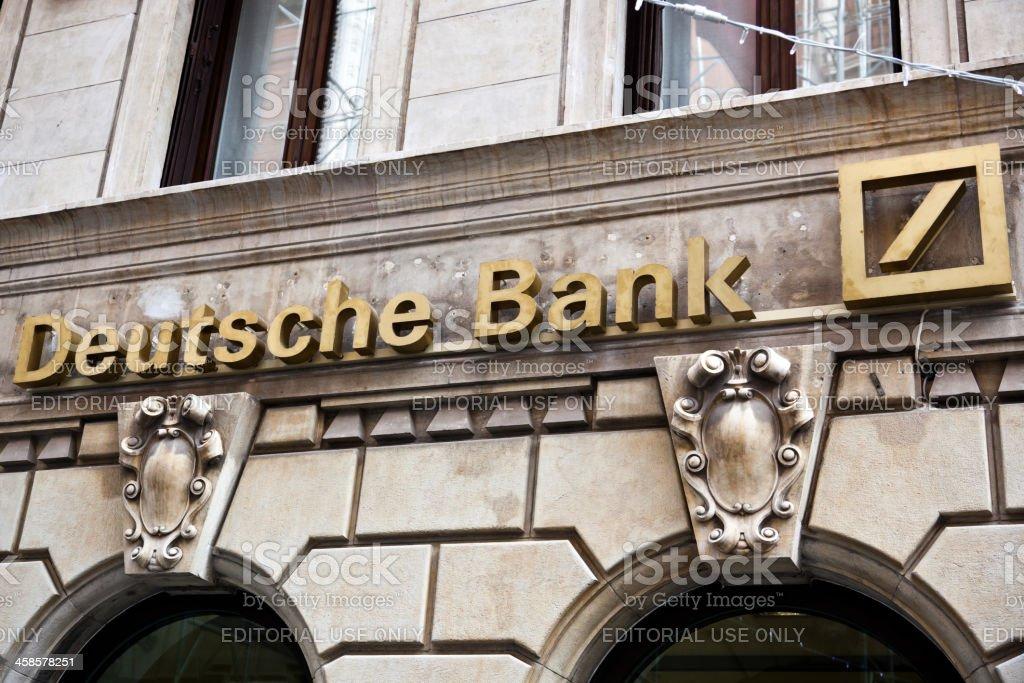 Deutsche Bank Sign stock photo