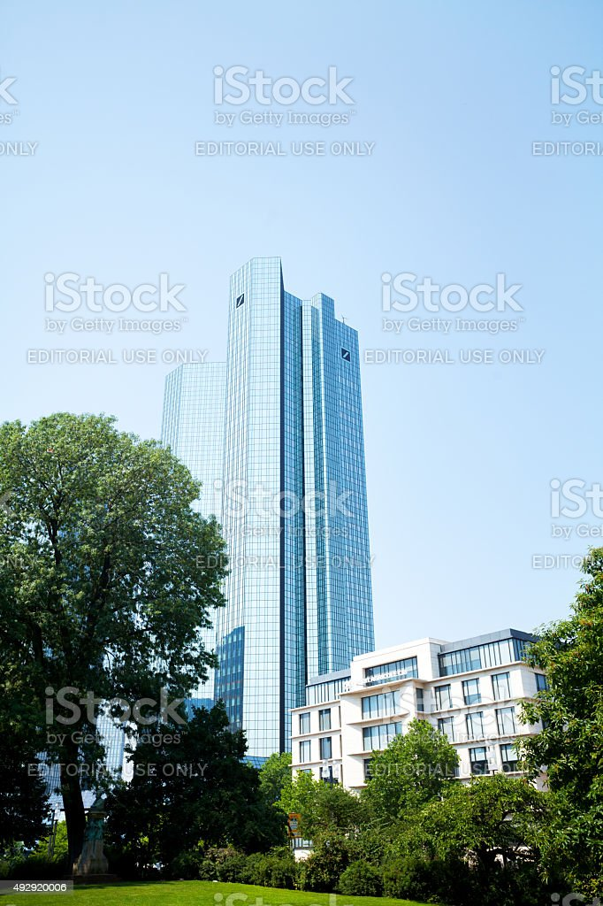 Deutsche Bank Skyliners stock photo