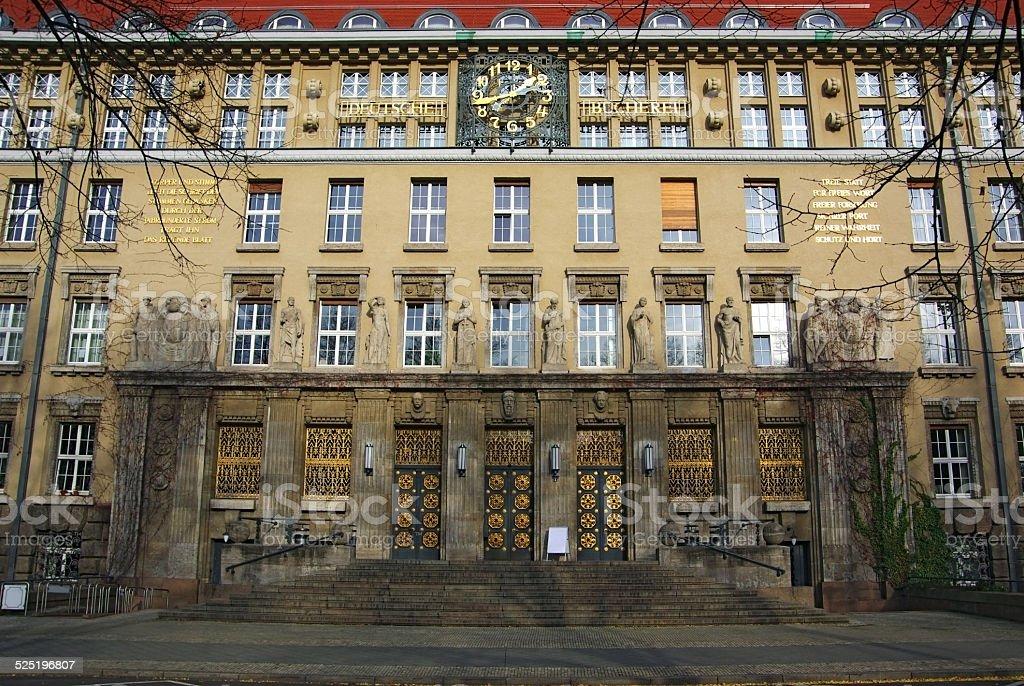 Deutsche B��cherei Leipzig stock photo
