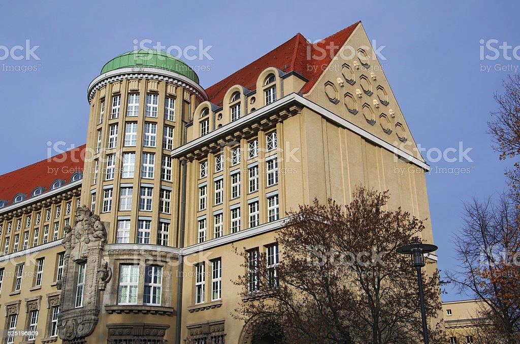 Deutsche Bücherei Leipzig stock photo
