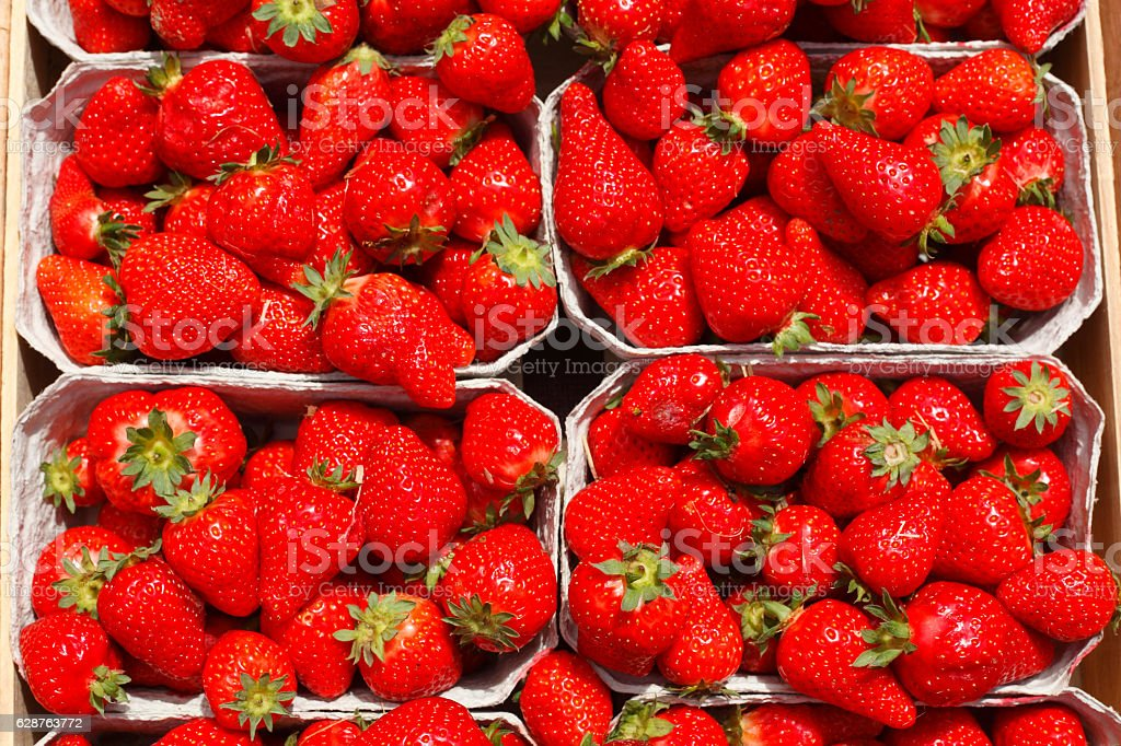 Deutsche Erdbeeren stock photo