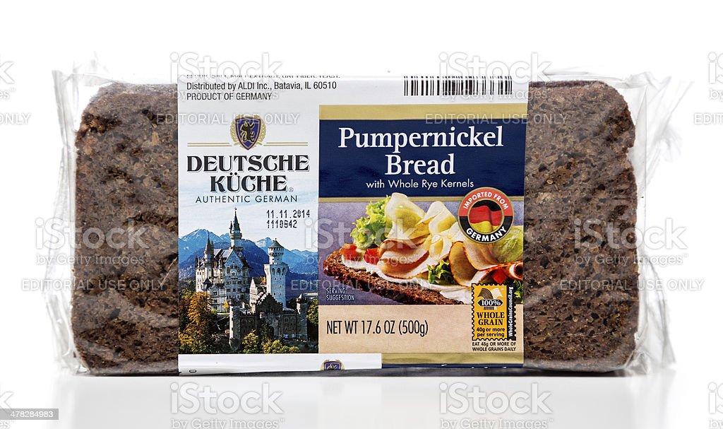 Deutsche Kuche pumpernickel bread package stock photo