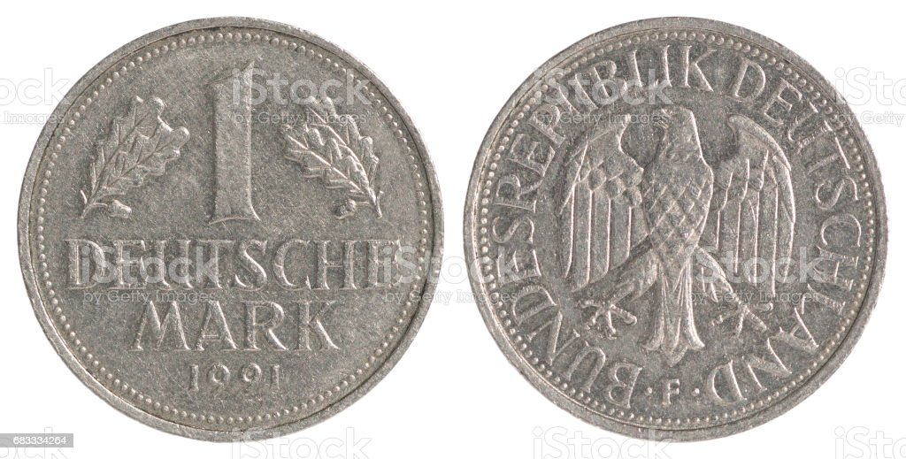 Deutsche mark coin stock photo