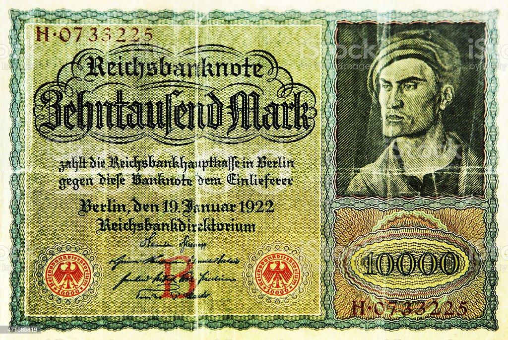 Deutsche Mark Paper Money German Bank Note stock photo