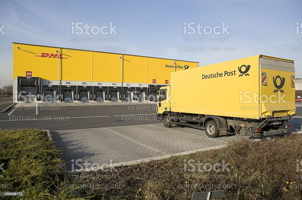 Deutsche Post and DHL distribution hub stock photo