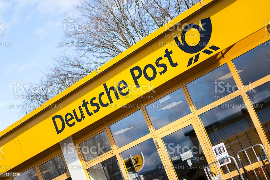 Deutsche Post branch stock photo
