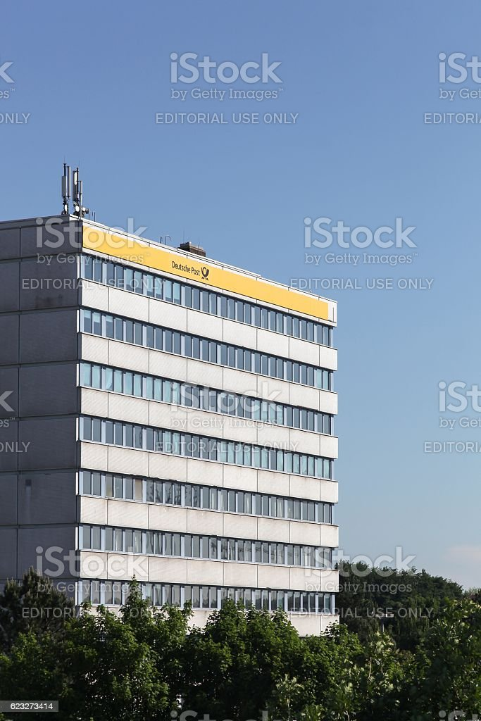 Deutsche Post building stock photo