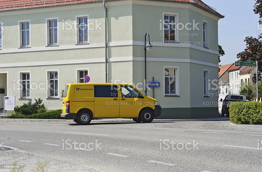 Deutsche Post - DHL delivery vehicle royalty-free stock photo