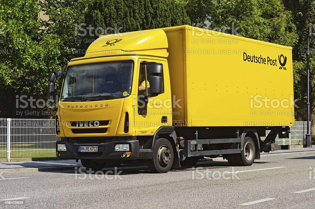 Deutsche Post & DHL truck royalty-free stock photo