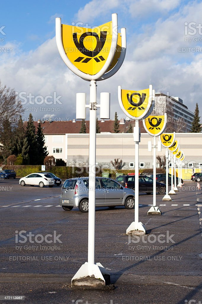 Deutsche Post royalty-free stock photo