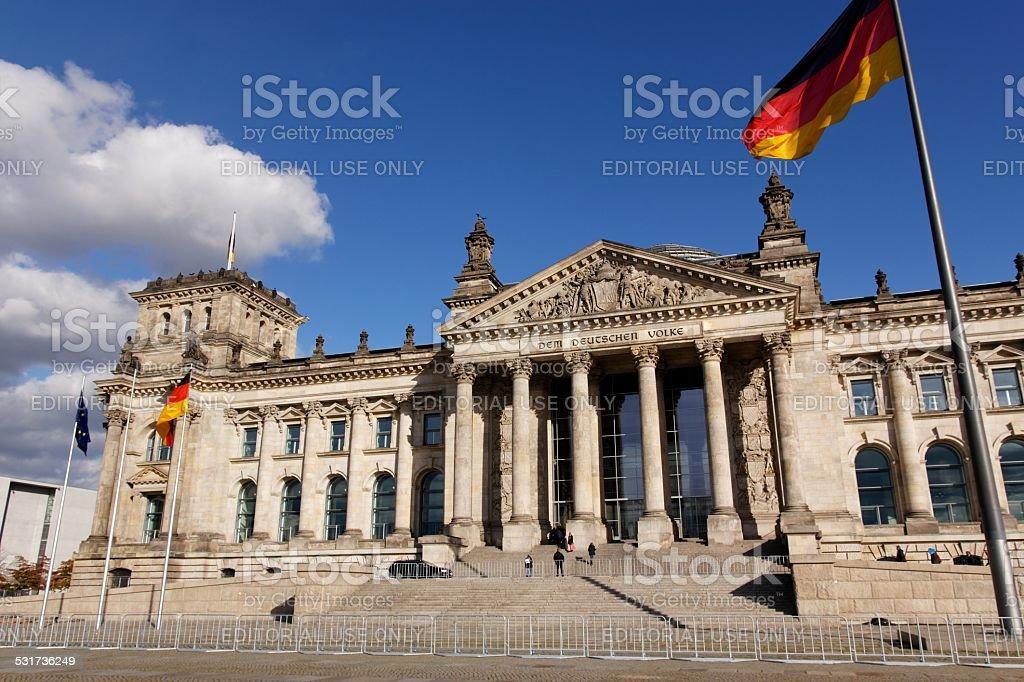 Deutscher Bundestag German Parliament stock photo