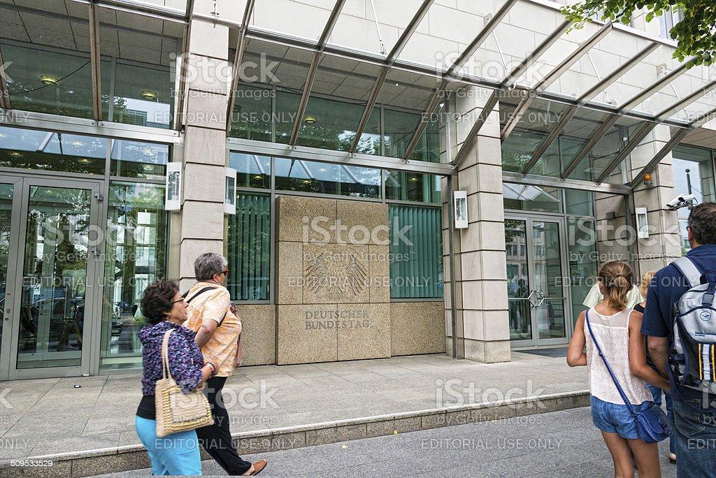 Deutscher Bundestag in Berlin stock photo