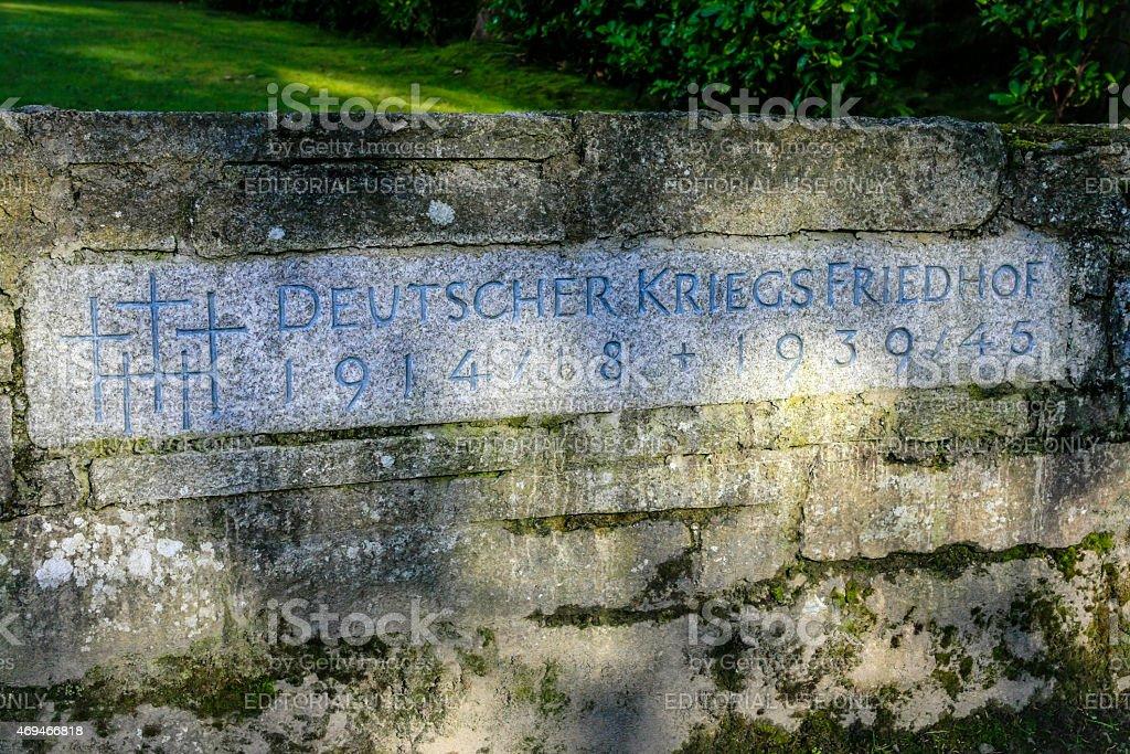 Deutscher Soldatenfriedhof, Glencree stock photo