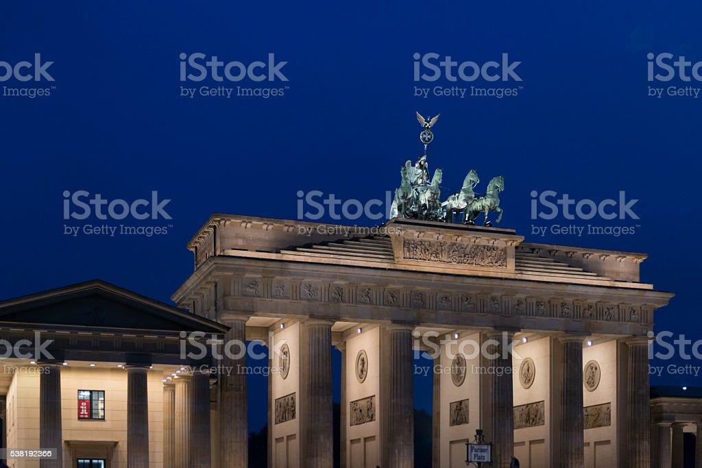 Deutschland, Berlin, am Brandenburger Tor, Bauzeit 1788 - 1791 stock photo