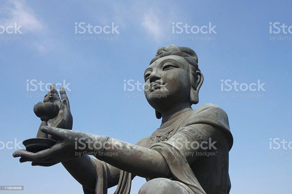 Devas Buddhistic statue stock photo