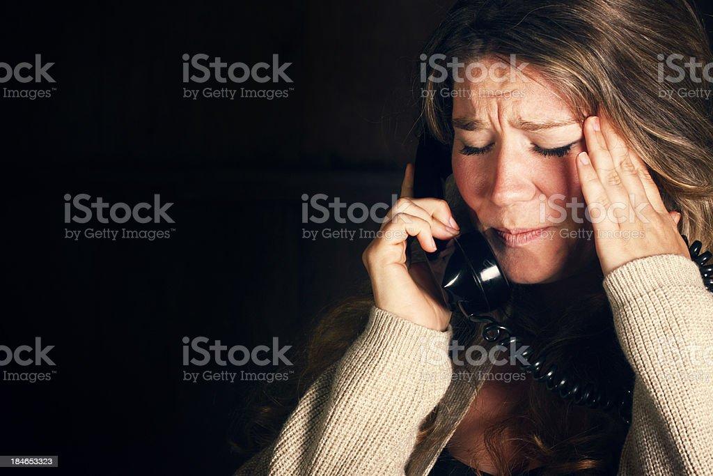 Devastating Phone Call stock photo