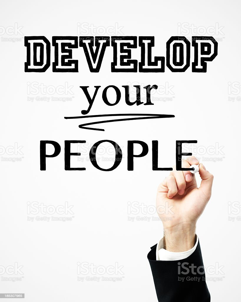 Develop your people royalty-free stock photo