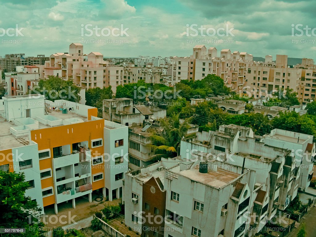 developed area in Pune city stock photo