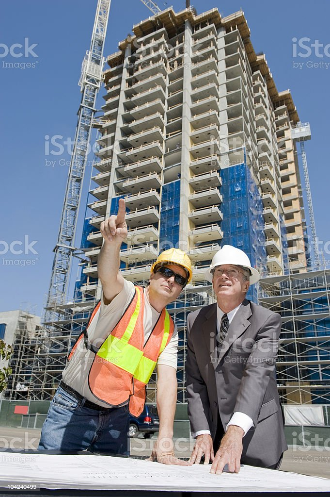Developer & Foreman royalty-free stock photo