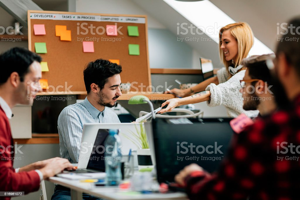 Developers Working From Home Office. stock photo