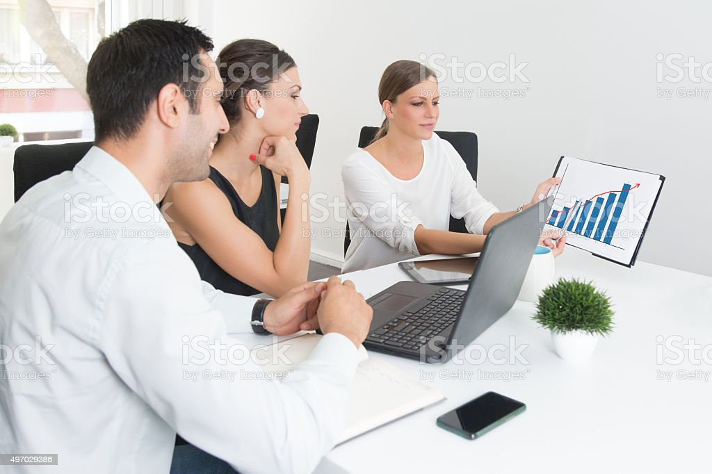 Developing A Business Plan For Strategic Positioning On The Market stock photo