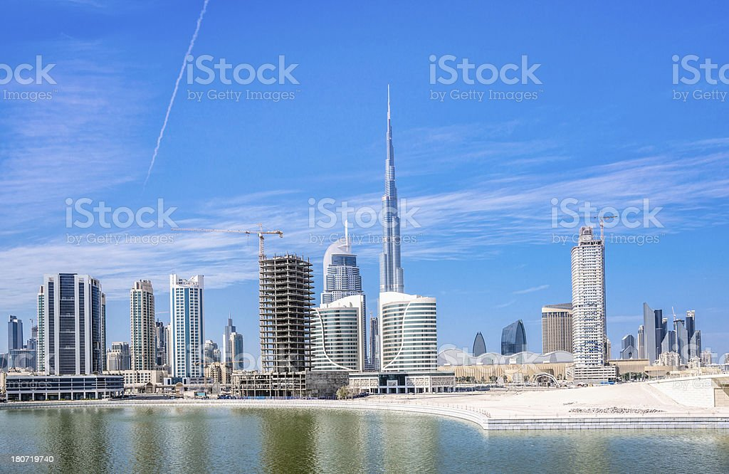 Developing Dubai Skyline royalty-free stock photo
