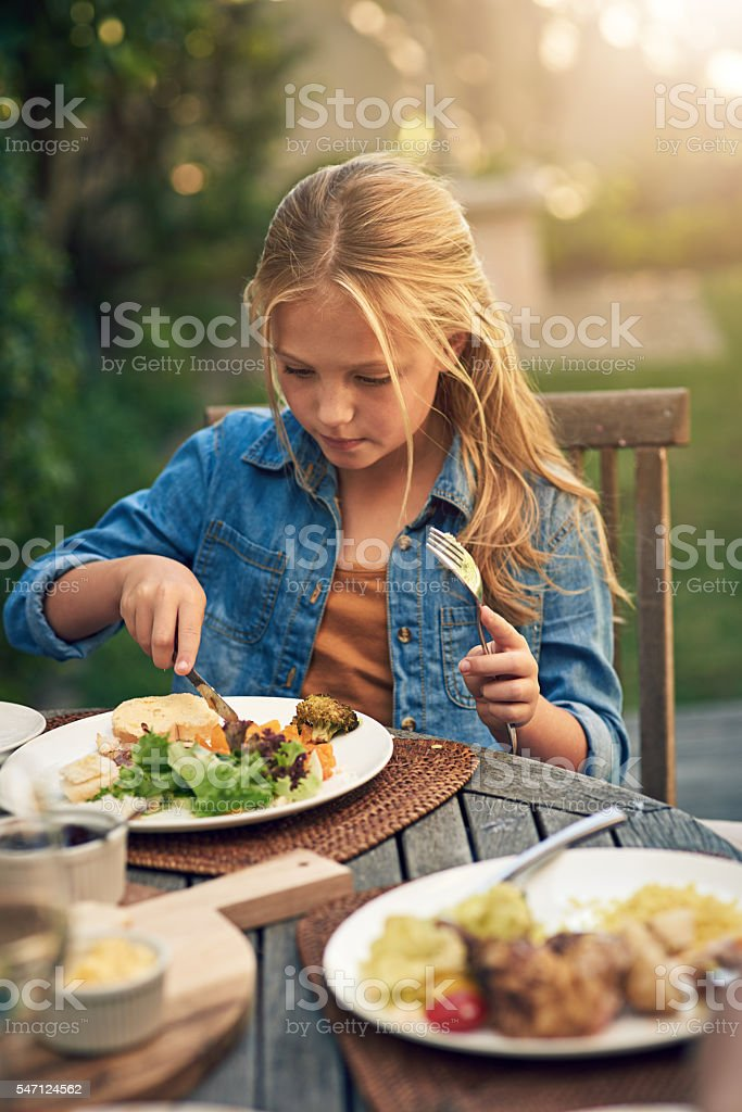 Developing healthy eating habits stock photo