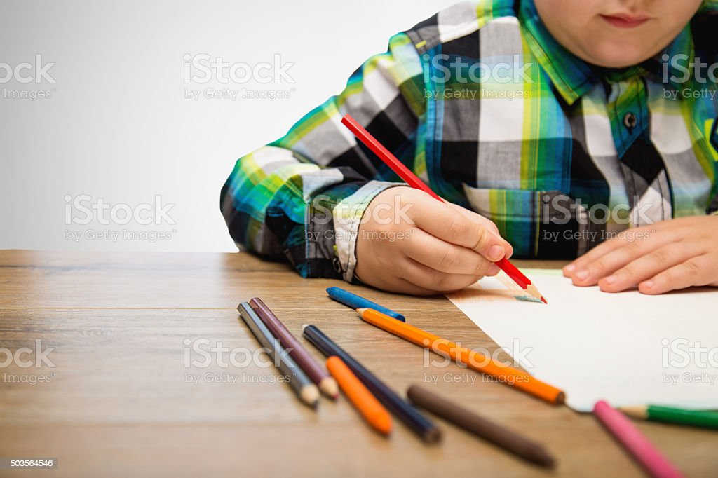 Developing his creativity stock photo