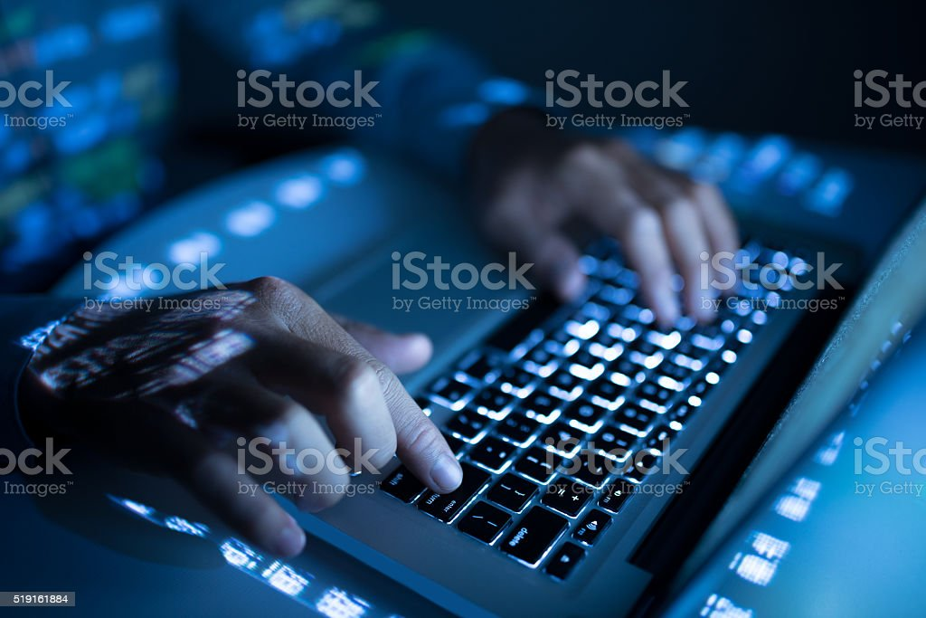 Developing new program stock photo