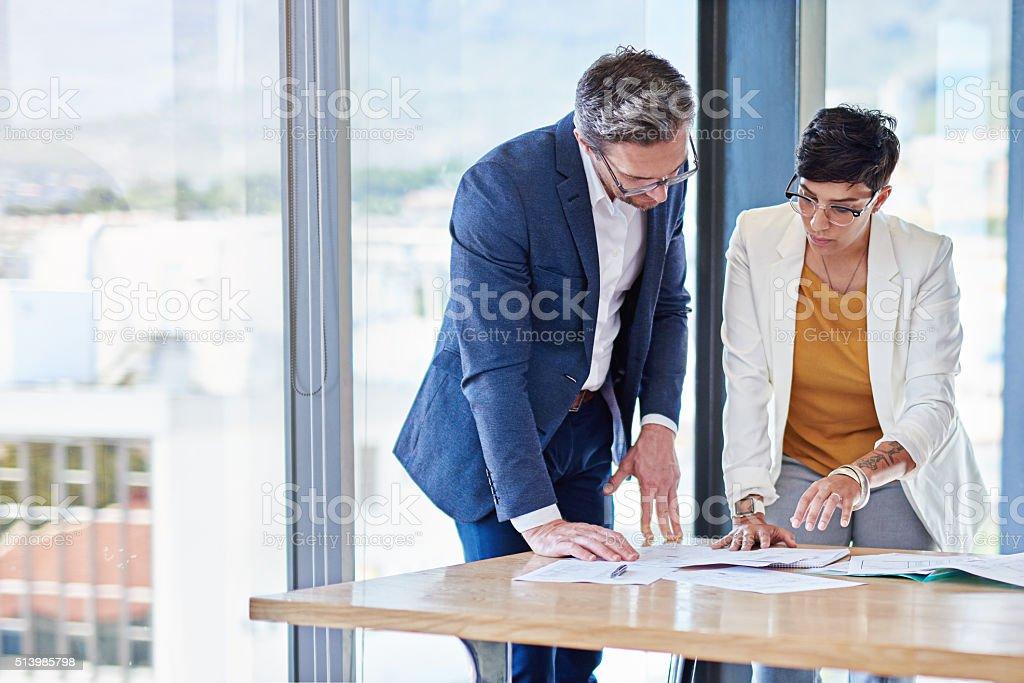 Developing new strategies stock photo