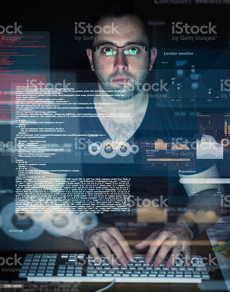 Developing tomorrow's technology today stock photo