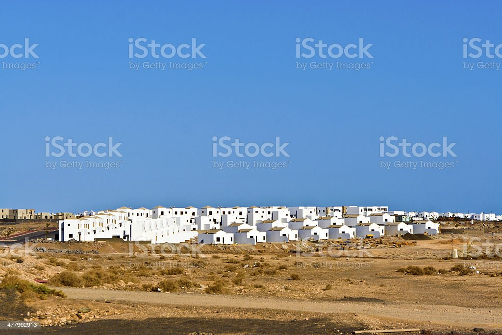 development area under construction in the wilderness royalty-free stock photo