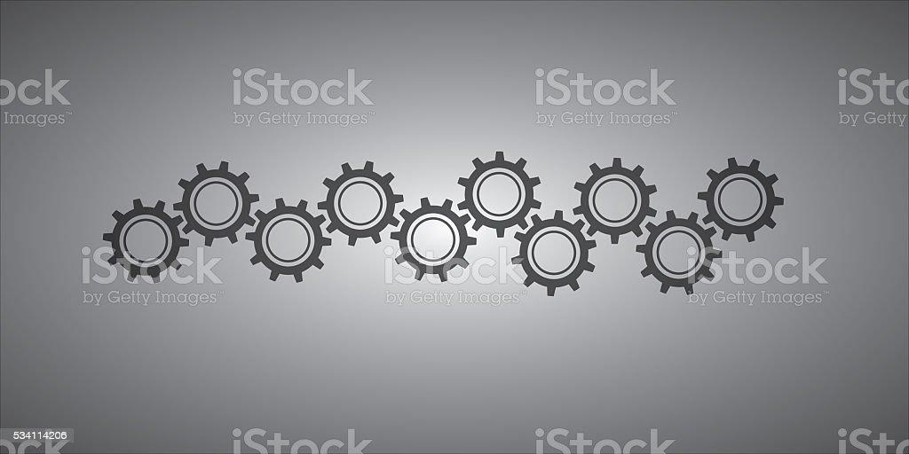 Development gears symbol stock photo