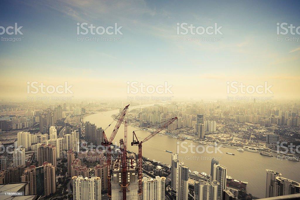 development in shanghai royalty-free stock photo