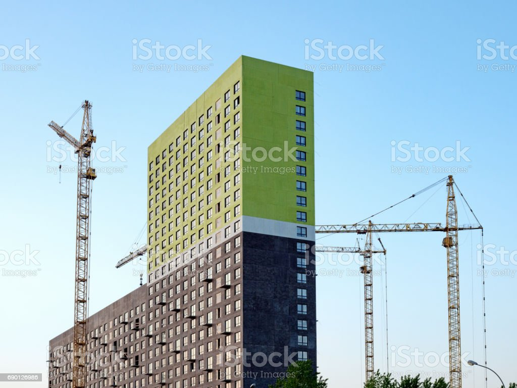Development: Multi-storey duilding being constructed stock photo