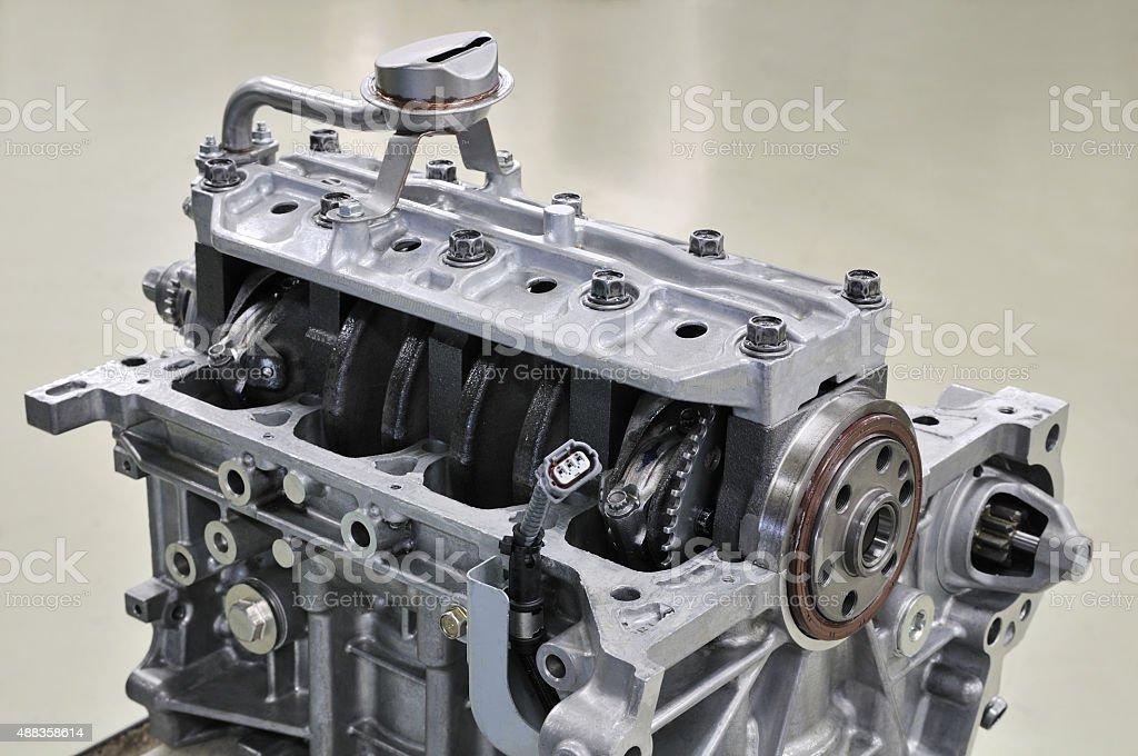 Development of automotive engine stock photo