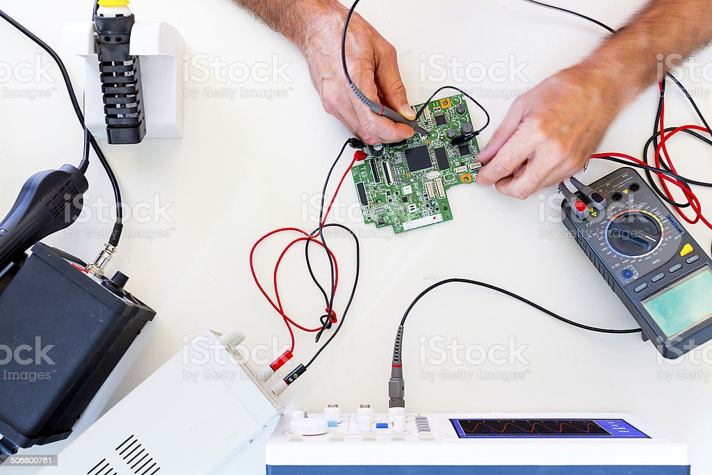 Development of electronic devices royalty-free stock photo