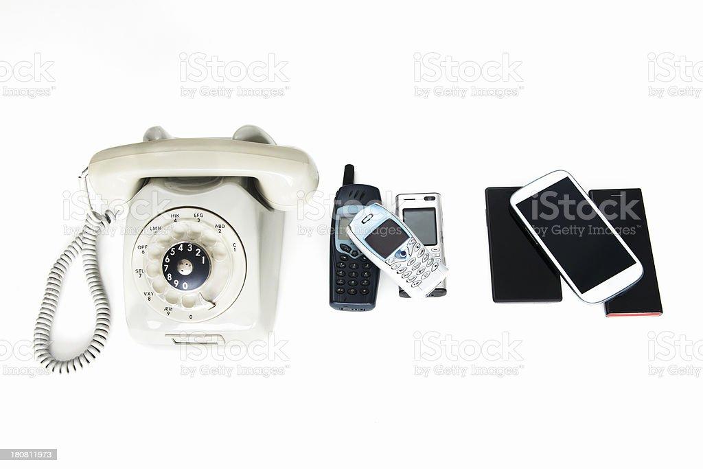 Development of the telephone stock photo
