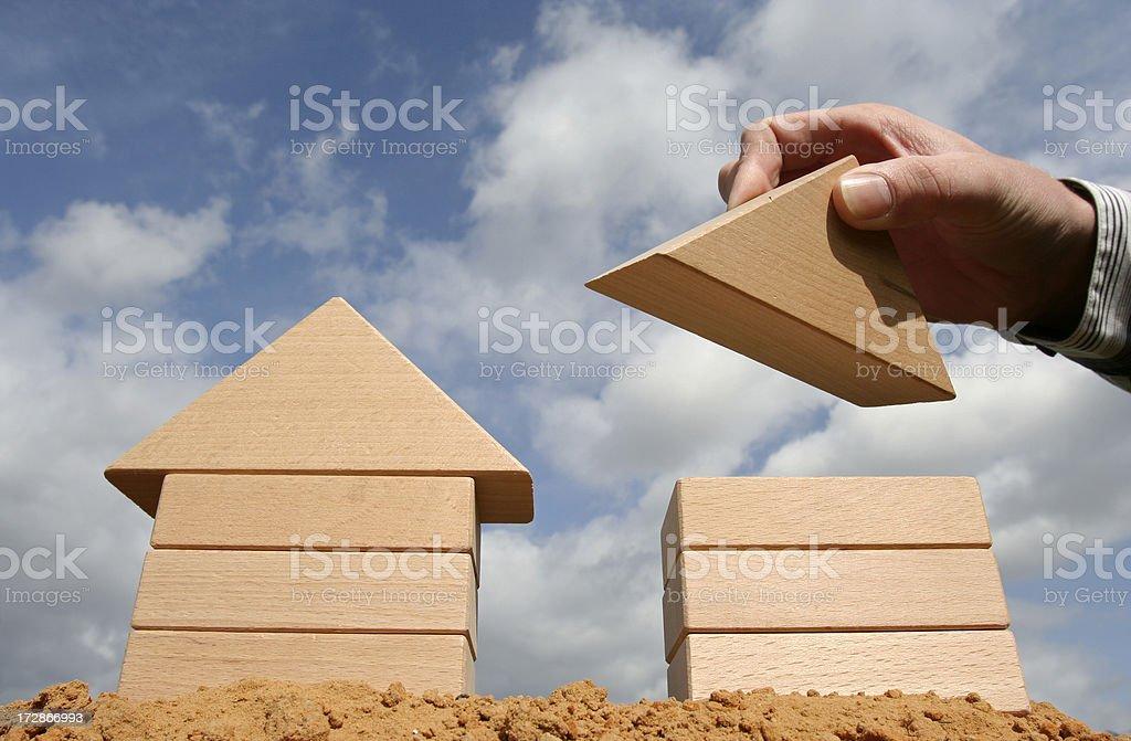 development plan for building houses stock photo