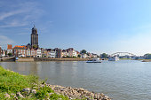 Deventer city at the river IJssel in The Netherlands