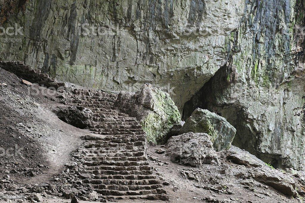 Devetashka Cave Interior stock photo