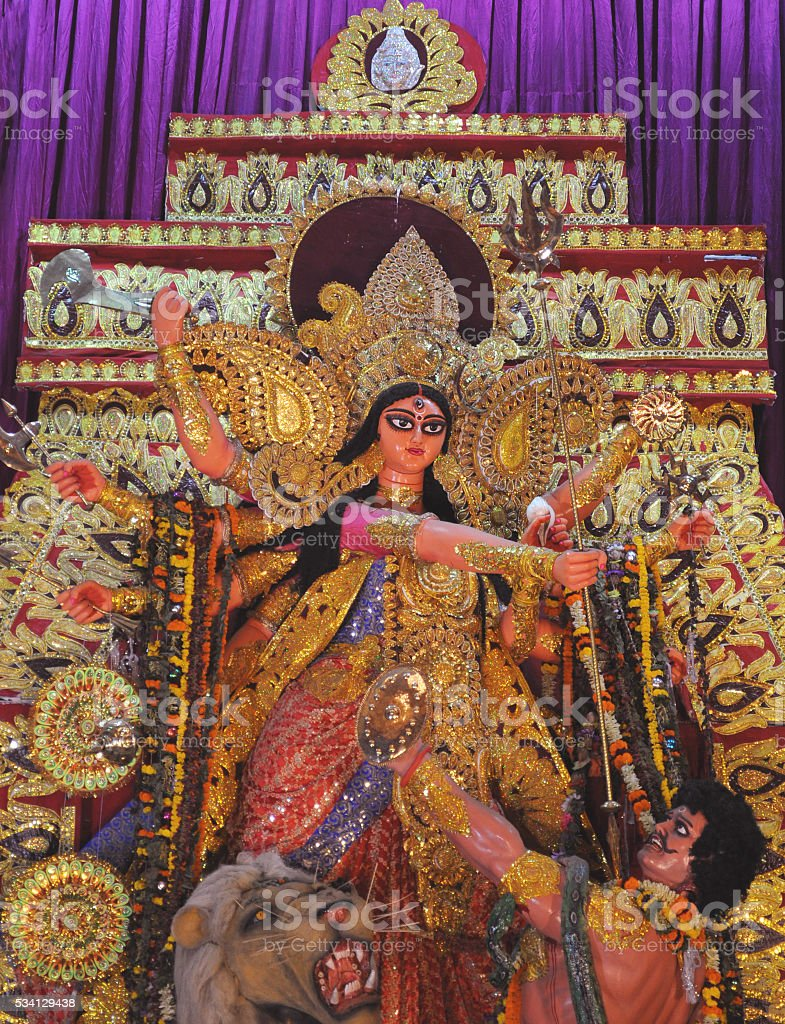Devi Goddess Durga - in different styles stock photo