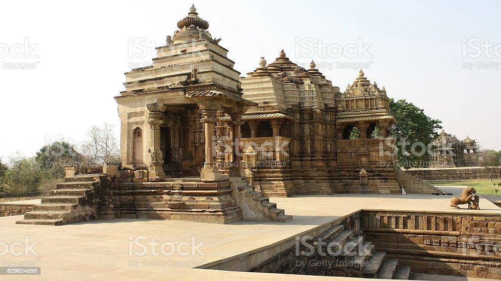 Devi Jagadambi temple, Khajuraho, India stock photo