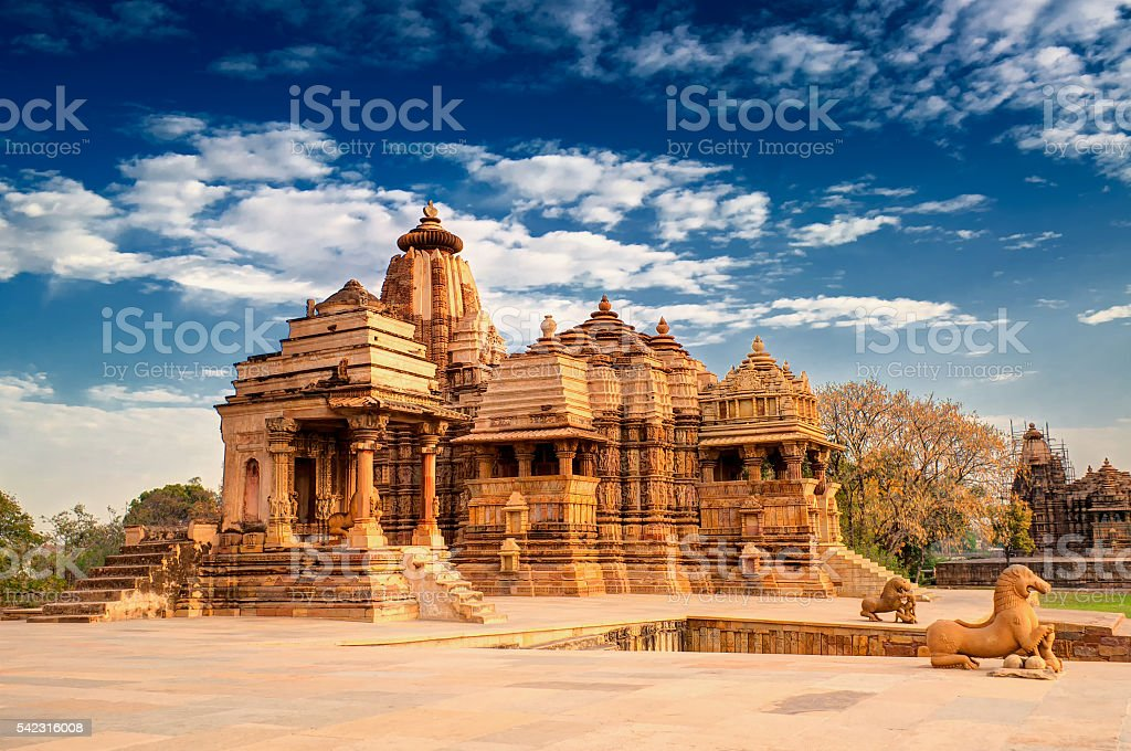 Devi Jagdambi Temple, Khajuraho., UNESCO world heritage site stock photo