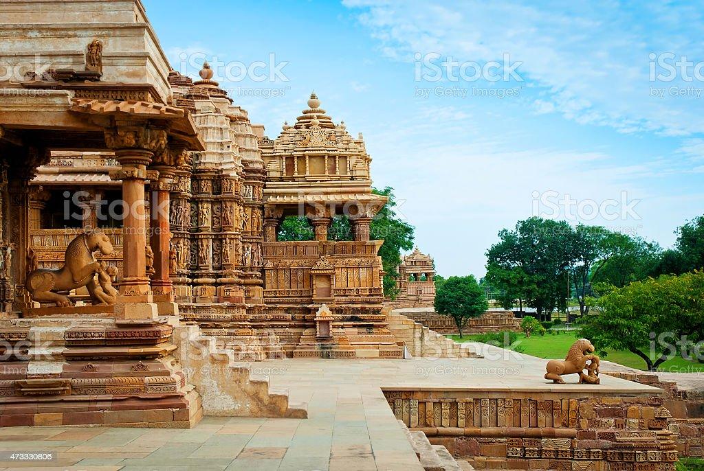 Devi Jagdambi Temple, Western Temples of Khajuraho, India stock photo