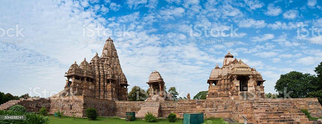 Du Temple Jagdambi ouest, les Temples de Khajuraho, Inde photo libre de droits